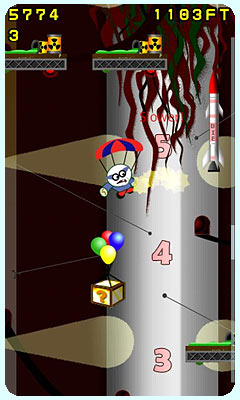 Parachute for Android mobile. The bonkers underground jump in the Area 51.2 level!